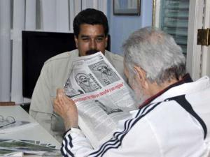 Fidel y Maduro sostienen fraternal encuentro