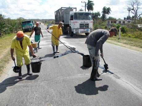 Carretera Central en el municipio de Florida, Camagüey.