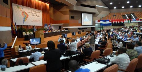 Foro de Sao Paulo, reunido en La Habana, aboga este lunes por lograr la integración latinoamericana y caribeña